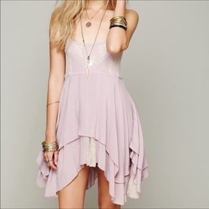 NWOT Free People Pieced Laced Slip in Blush Pink